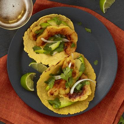 <p>Squash Tacos with Avocado</p>