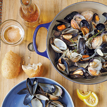 Beer-Steamed Clams and Mussels Recipe