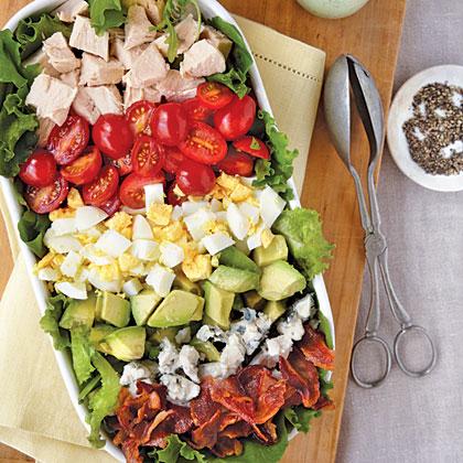 Cobb Salad with Green Goddess Dressing Recipe
