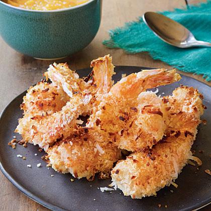 Coconut Shrimp with Fiery Mango Sauce Recipe