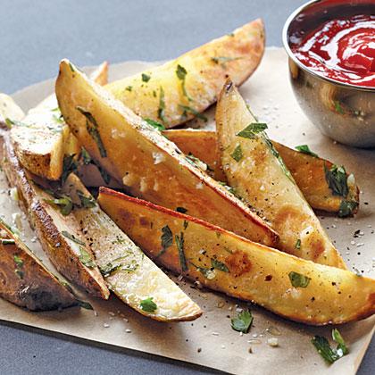 "Garlic-Parsley Steak ""Fries"" Recipe"