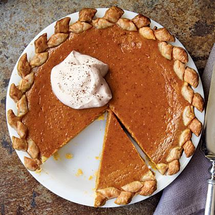 Pumpkin Pie with Vanilla Whipped Cream