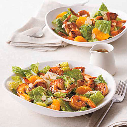 "Asian Shrimp Salad Recipe""In warmer weather I grill the shrimp, but this refreshing salad satisfies year-round."" -Yusuan Smithson, 54, Annapolis, Md."