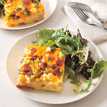 Bacon and Cheese Frittata Recipe