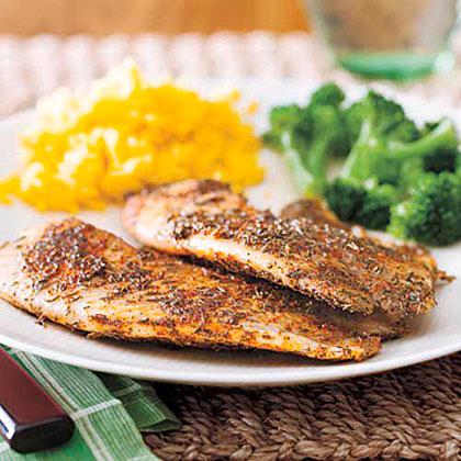 Cajun blackened tilapia recipe myrecipes for Cajun fish recipes