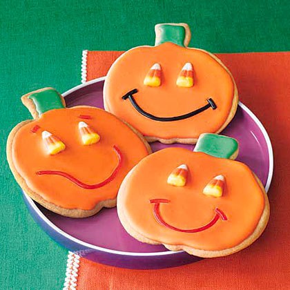 Jack-o'-Lantern Sugar Cookies