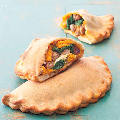 Pumpkin, Sausage and Spinach Calzone Recipe