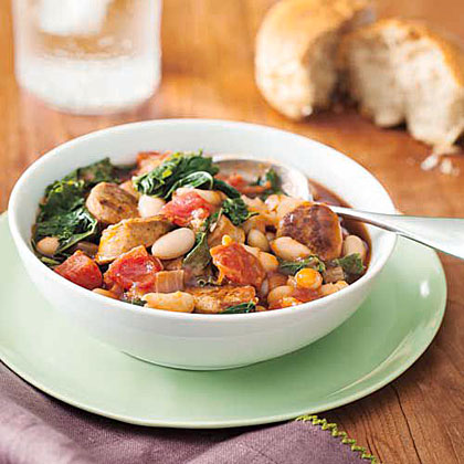 White Bean, Kale and Sausage Stew