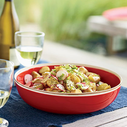 Baby Potato Salad with Radishes and Celery Recipe