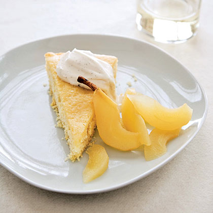 Buttermilk Cake with Riesling-Poached Pears Recipe