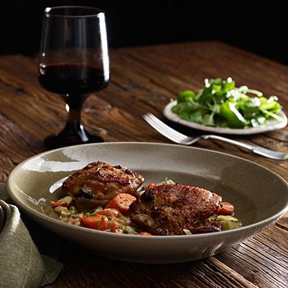 Cider Vinegar-Braised Chicken Thighs Recipe