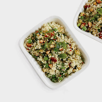 Couscous Salad with Zucchini and Roasted Almonds Recipe