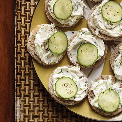 Cucumber-Rye Tea Sandwiches