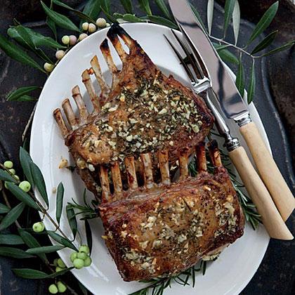Garlic-Crusted Roast Rack of Lamb Recipe