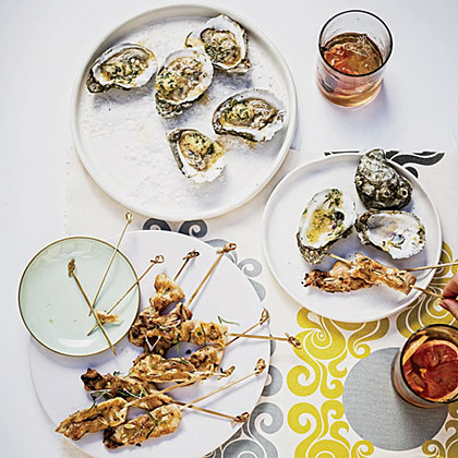 Grilled Oysters with Tabasco-Leek Butter Recipe