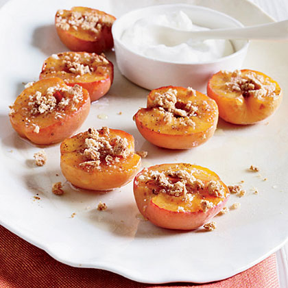 Honey-Roasted Apricots with Amaretti Cookies Recipe