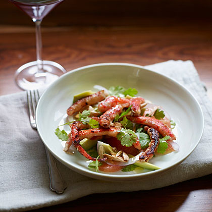 King Crab Salad with Grapefruit and Avocado Recipe