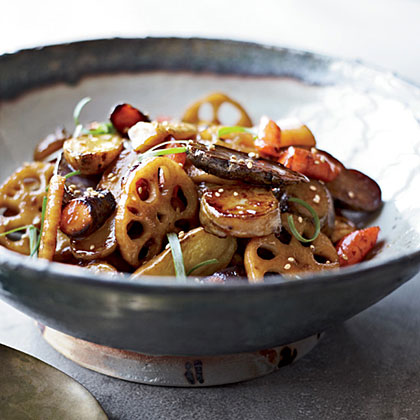 Maple Root-Vegetable Stir-Fry with Sesame Recipe
