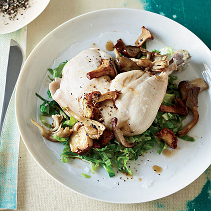 Pot-Roasted Chicken with Mushrooms Recipe