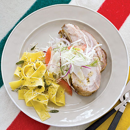 Roast Pork Loin with Fennel Salad