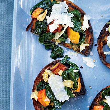 Squash-and-Kale Toasts Recipe