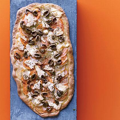 Two-Potato Flatbread with Olives and Feta Recipe