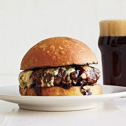 Umami Burgers with Port and Stilton Recipe