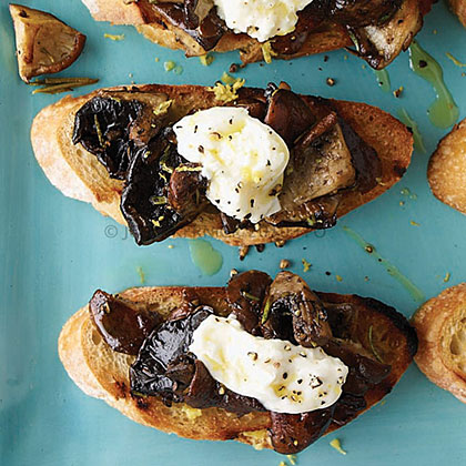 Wild Mushroom and Burrata Bruschetta