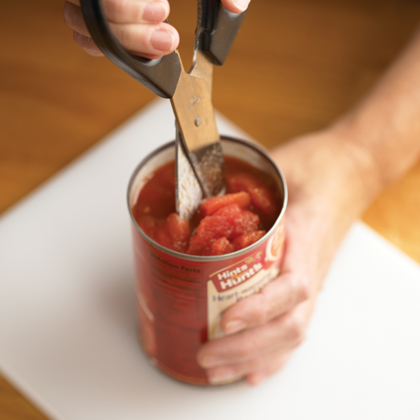 Chopping Italian-Style Tomatoes