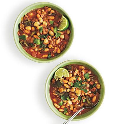 White Bean and Hominy Chili Recipe