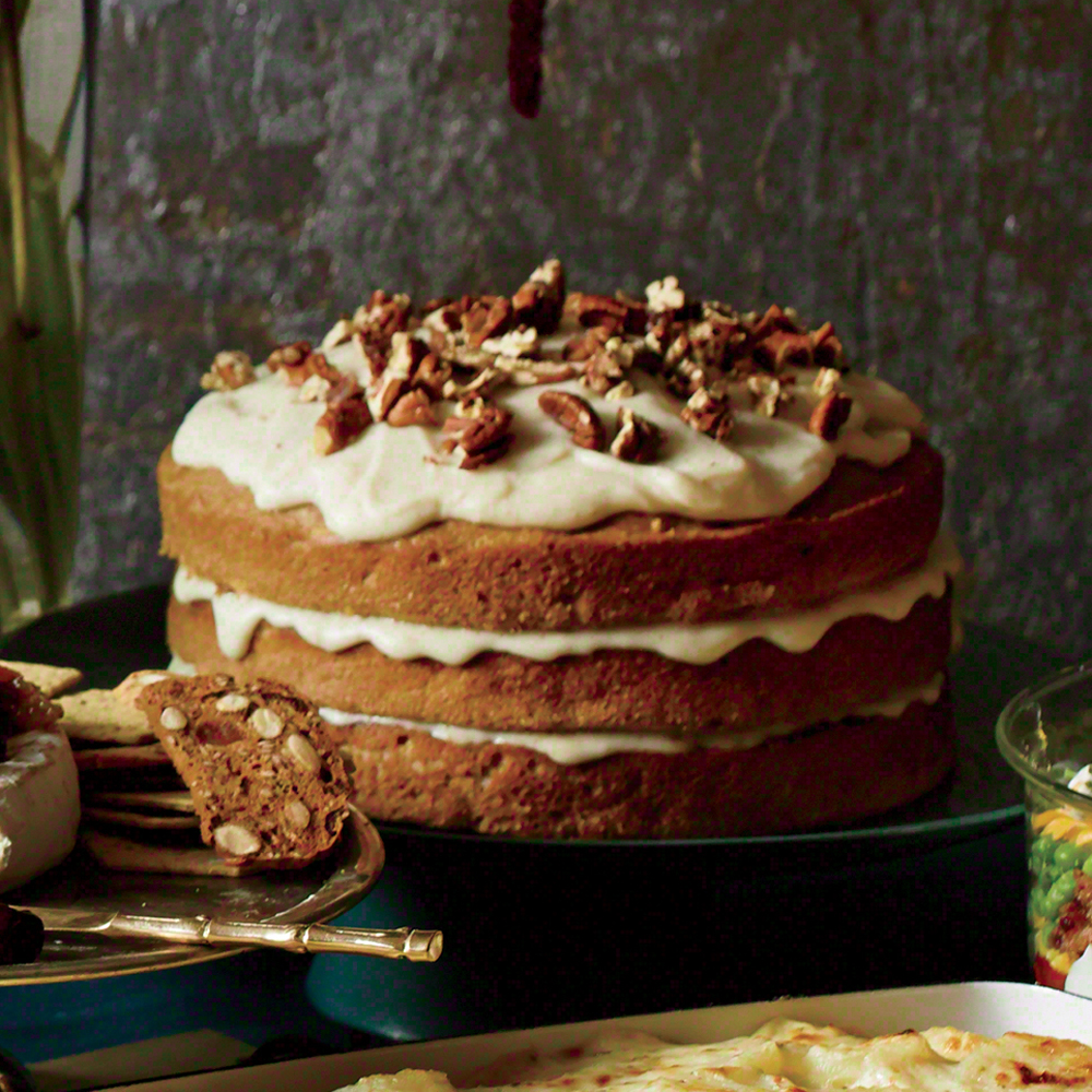 Carrot Apple Spice Cake With Browned Butter Glaze Recipe