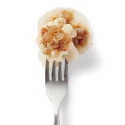 Cauliflower with Warm Curry Dressing