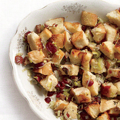 Chestnut, Cranberry, and Leek Stuffing