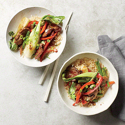Crispy Pork Stir-Fry with Baby Bok Choy