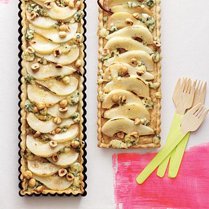 Hazelnut, Pear, and Blue Cheese Tart