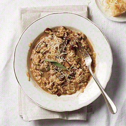 Mushroom and Roasted Garlic Risotto