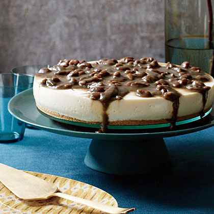 No-Bake Cheesecake with Pecan Caramel