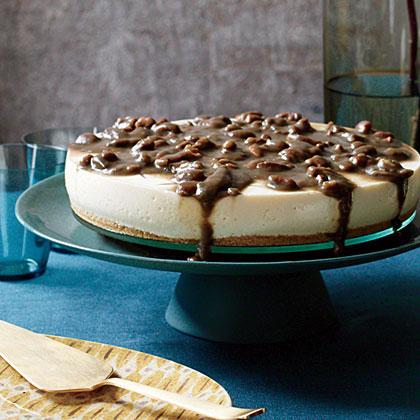 No-Bake Cheesecake with Pecan Caramel