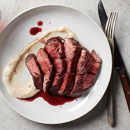 Port-Stained Beef Medallions Recipe