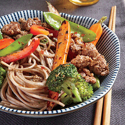 Soba Noodles with Spicy Cumin LambRecipe
