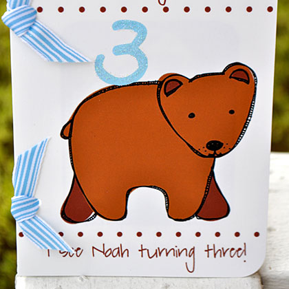 Brown Bear Invitation