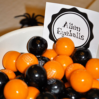 Halloween Party Alien Gumballs