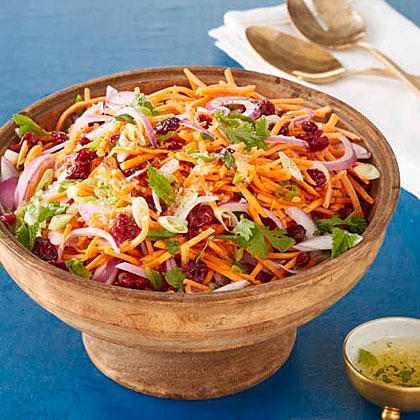 Carrot-Cranberry Salad with Mint Dressing Recipe