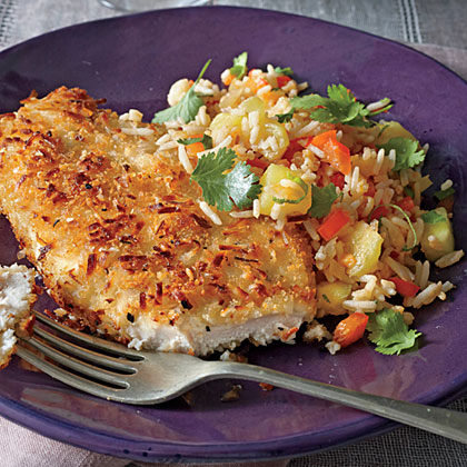 sl-Coconut Chicken with Pineapple Fried Rice