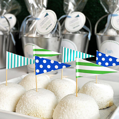 Golf Party Treat Flags