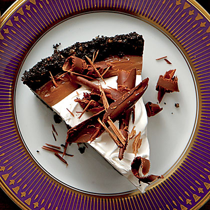 Mocha-Espresso Cream Pie RecipeMocha-Espresso Cream Pie is a chocolate-lover's dream. A crunchy cookie crust is filled with a decadent chocolate filling before being topped off with Coffee Whipped Cream.