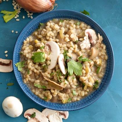 Mushroom-Barley Risotto