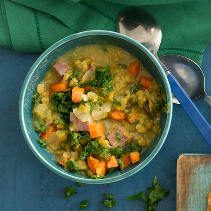 <p>Split Pea and Greens Soup</p>