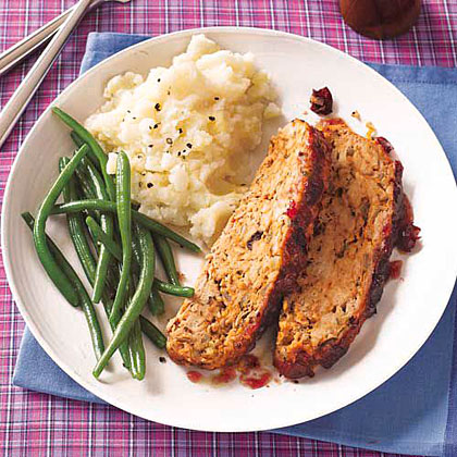 Turkey Meat Loaf with Cranberry Glaze Recipe