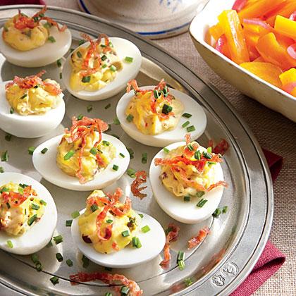 Muffuletta Deviled Eggs Recipe
